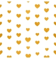 seamless pattern golden hearts vector image vector image