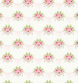 Seamless vintage pattern with pink roses vector image vector image