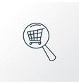 search shop icon line symbol premium quality vector image vector image