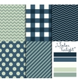 set 5 simple seamless geometric patterns vector image vector image