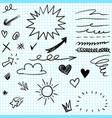 set hand drawn design elements vector image vector image