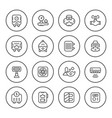 set round line icons of heating vector image vector image