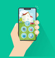 smart home on phone flat vector image vector image