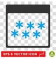 Snowflakes Calendar Page Eps Icon vector image vector image