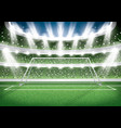 soccer stadium goal post football arena vector image vector image
