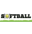 Softball Word vector image vector image