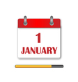 The first day Newyear Day Calendar Icon vector image