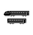 train black icon concept train sig vector image