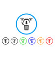 trash drone rounded icon vector image vector image