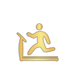 Treadmill computer symbol vector image