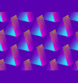 triangle of dots with gradient pop art style vector image vector image