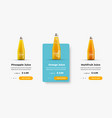 ui product card template for web site design with vector image vector image