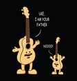 uke i am your father funny t shirt vector image vector image