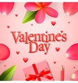 Valentines day concept gift boxe flower petals vector image vector image