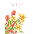 vertical card template with lettering and bouquet vector image vector image