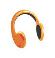 yellow protective headphones cartoon vector image
