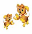 3D cartoon dog clipart vector image