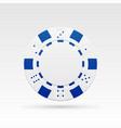 white casino chip vector image