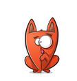 cute funny cat cartoon vector image