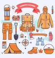 camping and hiking vector image