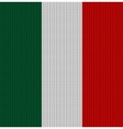 Knitted flag of Italy vector image