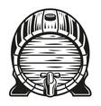a beer barrel vector image vector image