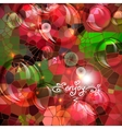Abstract colorful shining circle background vector image vector image