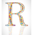 Abstract letter R vector image