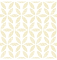 Abstract textile beige leaves seamless pattern vector image vector image
