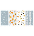 autumn pattern set perfect for wallpaper gift vector image vector image