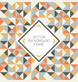 background geometric triangle shapes pattern vector image vector image