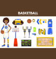 basketball sport equipment game player garment vector image vector image