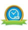 Best gold clock logo vector image
