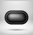black abstract bubble badge vector image vector image