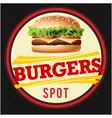 burgers spot circle black background image vector image vector image