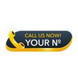 call us yellow 3d button - template for phone