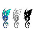 chinese dragon set vector image