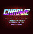 Chrome bold automotive typeface