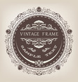 circle vintage frame vector image vector image