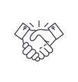 collaboration line icon concept collaboration vector image vector image
