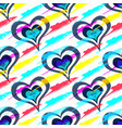 colored beautiful hearts on day holy vector image vector image