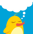 cute bird with bubble speech vector image