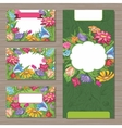 Design templates with spring flowers for business vector image
