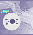 dollar icon on purple abstract modern background vector image vector image