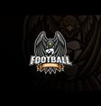 eagle mascot sport logo design vector image vector image