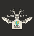 eco poster concept save planet with a beetle vector image