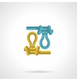 Flat icon for colored rope knot vector image vector image