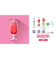 flat style cocktail daiquiri menu design vector image
