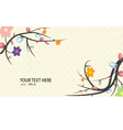 flower spring season background vector image vector image