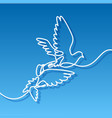 flying two pigeons logo vector image vector image